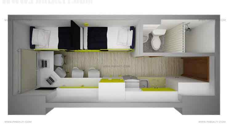 Space San Marcelino - 18 SQM Unit Layout