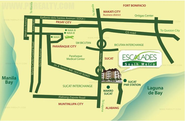 Escalades South Metro - Location & Vicinity