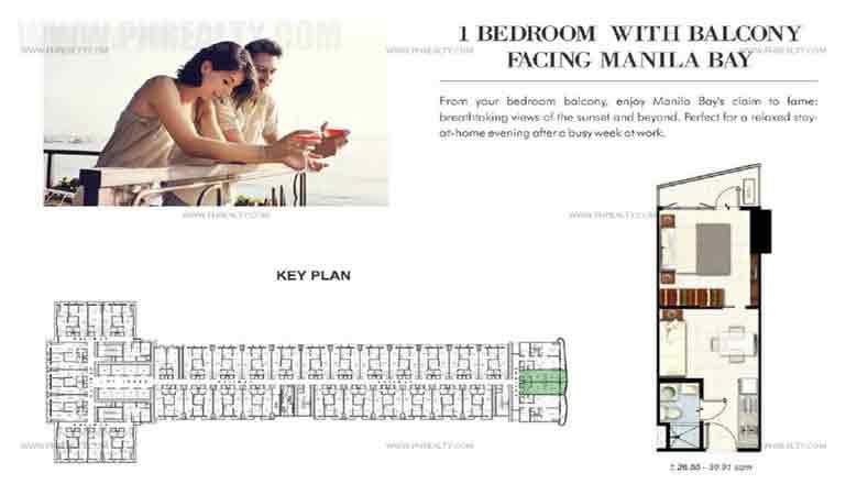 Coast Residences - 1 Bedroom with Balcony