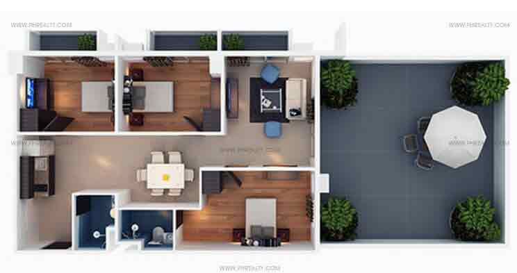 Brie Residences - 3 Bedroom 108 SQM