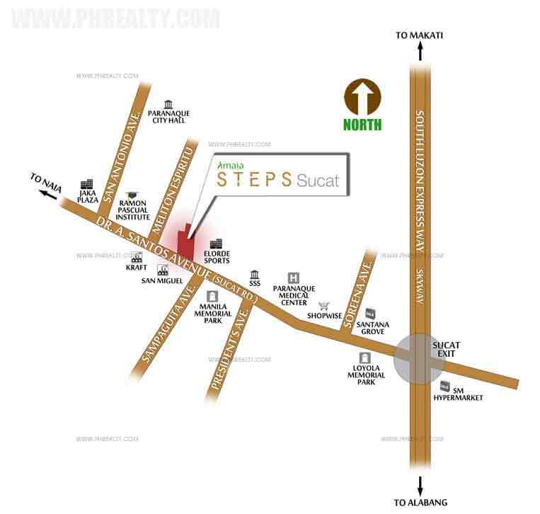 Amaia Steps Sucat -  Location & Vicinity