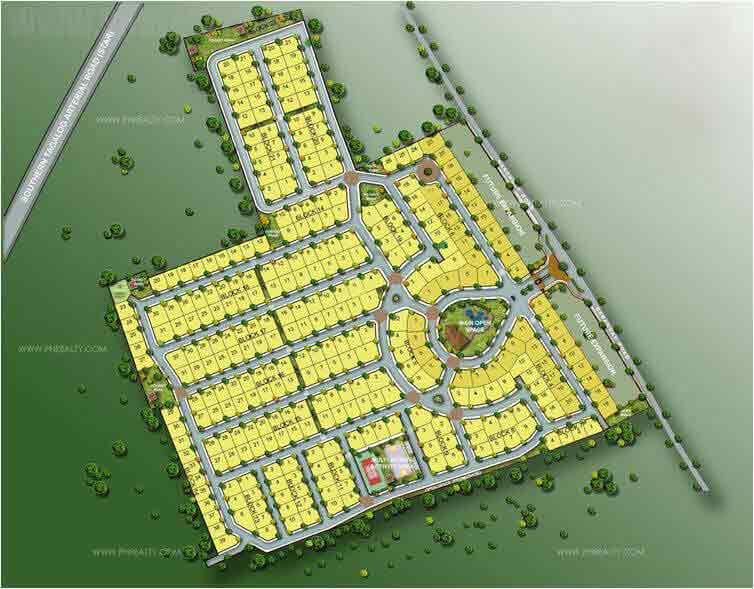 Bloomfields Heights Lipa - Site Development Plan