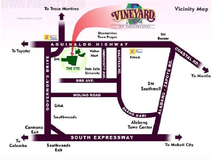 Robinsons Vineyard - Location & Vicinity