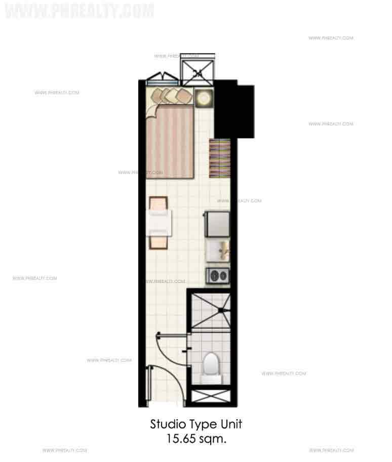 Mezza ll Residences - Studio Unit