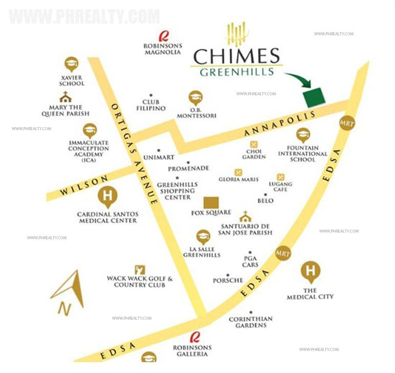 Chimes Greenhills - Location & Vicinity