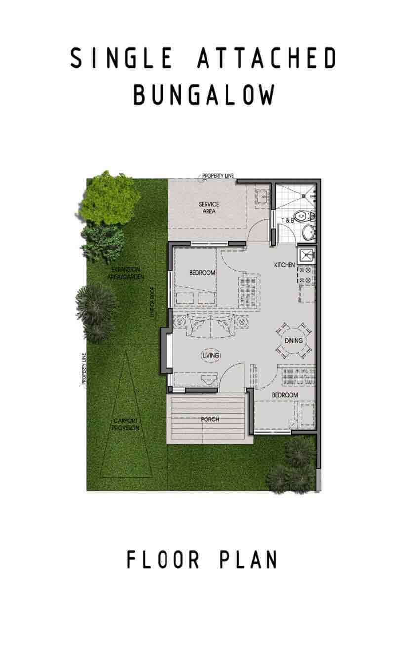 Amaia Scapes Laguna - Suggested Bungalow Pod Floor Layout