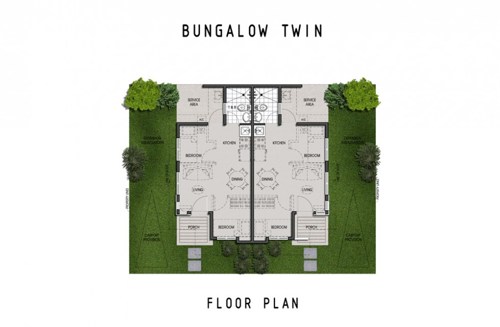 Amaia Scapes Laguna - Suggested Twin Pod Floor Layout