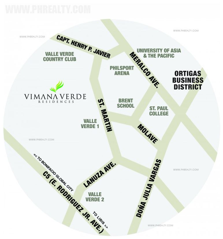 Vimana Verde Residences - Location & Vicinity