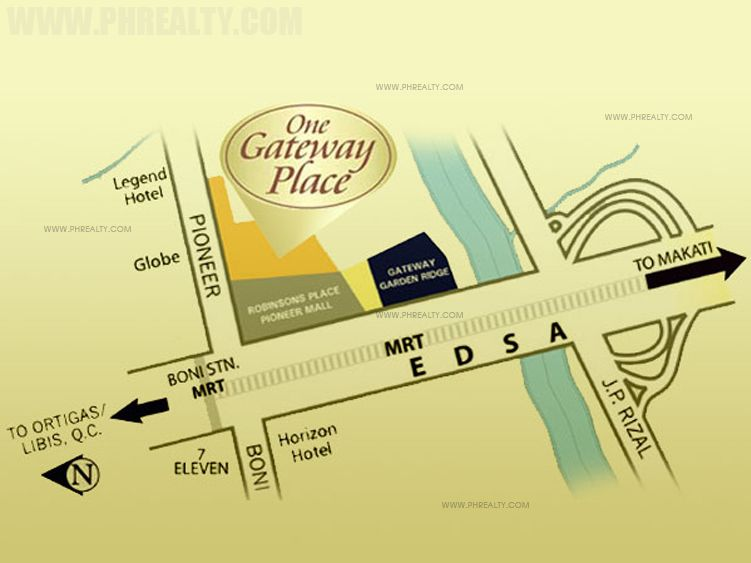 One Gateway Place - Location & Vicinity