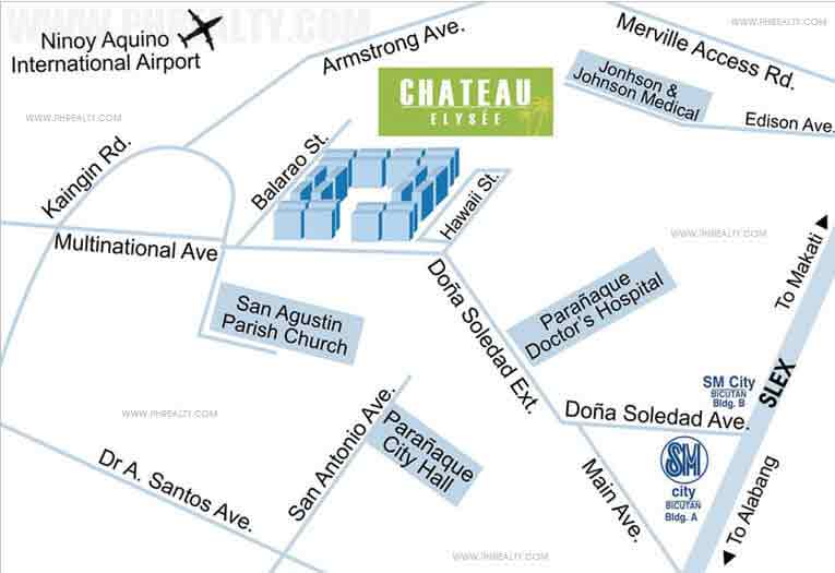 Chateau Elysee Residences  - Location & Vicinity