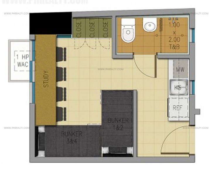 Space U Belt - 20 SQM Unit Layout