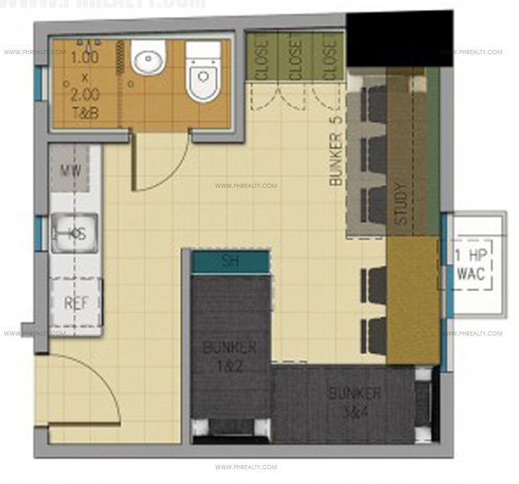Space U Belt - 23 SQM Unit Layout