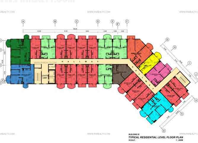 88 Gibraltar - Typical Floor Plan Tower - 1