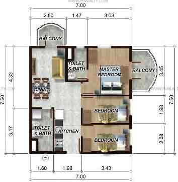 88 Gibraltar - 3BR Unit Model A
