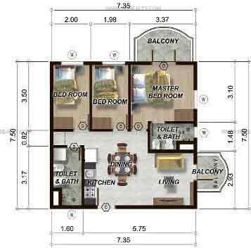 88 Gibraltar - 3BR Unit Model B