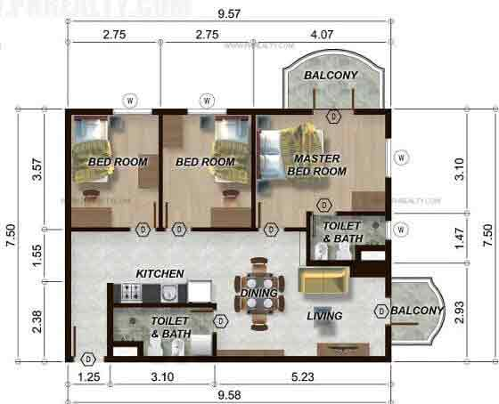 88 Gibraltar - 3BR Unit Model D