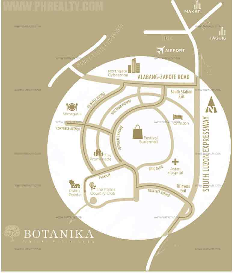 Botanika - Location & Vicinity