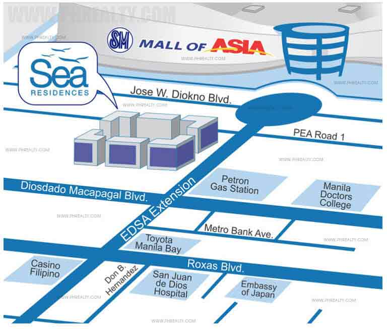 Sea Residences - Location & Vicinity