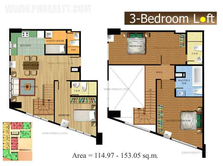 The Fort Residences - Three Bedroom Loft1
