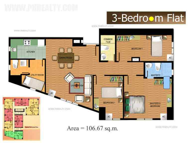 The Fort Residences - Three Bedroom