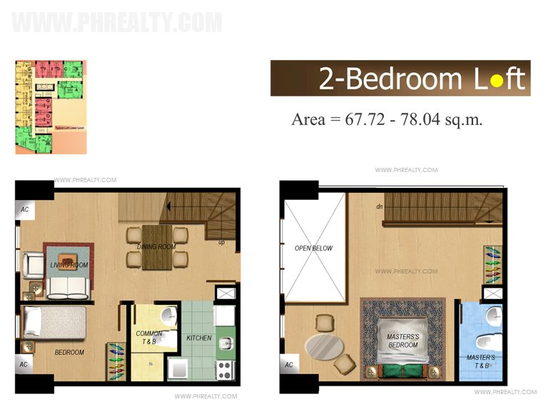 The Fort Residences - Three Bedroom Loft3