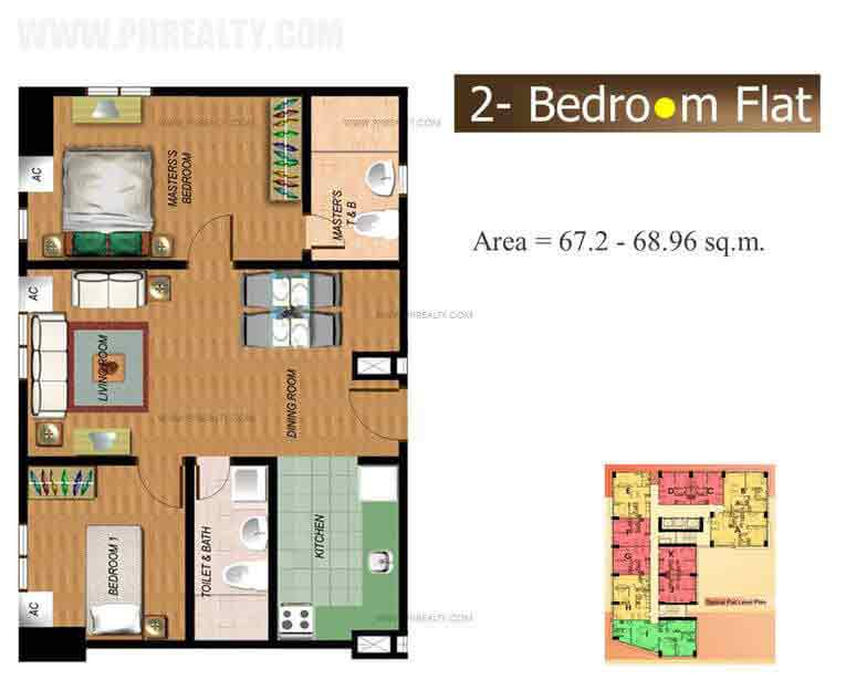 The Fort Residences - Two Bedroom