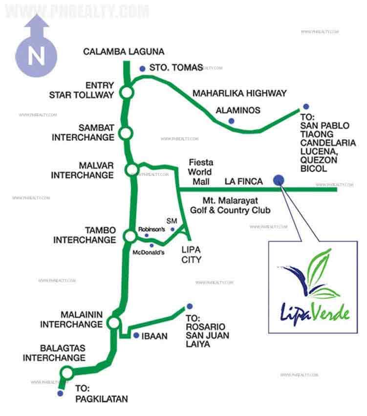 Lipa Verde - Location & Vicinity