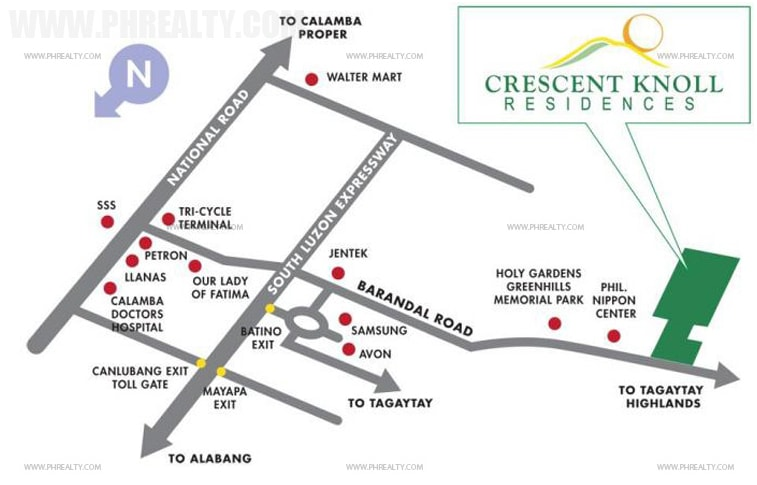 Crescent Knoll Residences - Location & Vicinity
