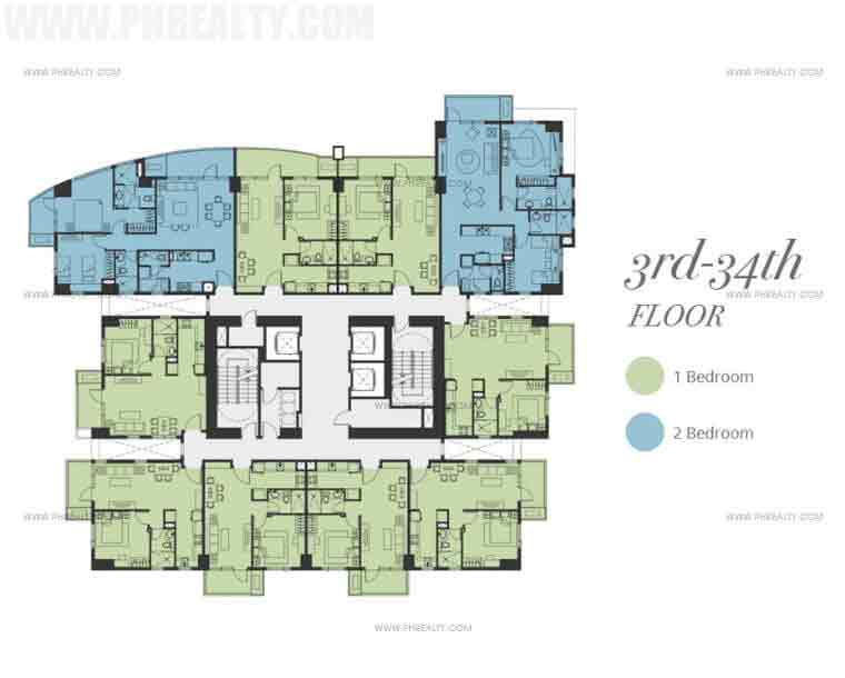 Bristol Parkway Place - Floor Plan 3rd to 34th floor