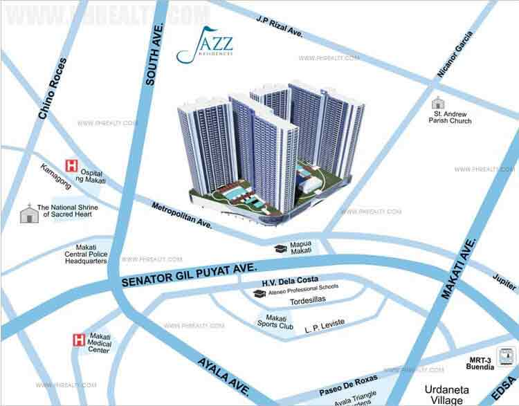 Jazz Residences - Location & Vicinity