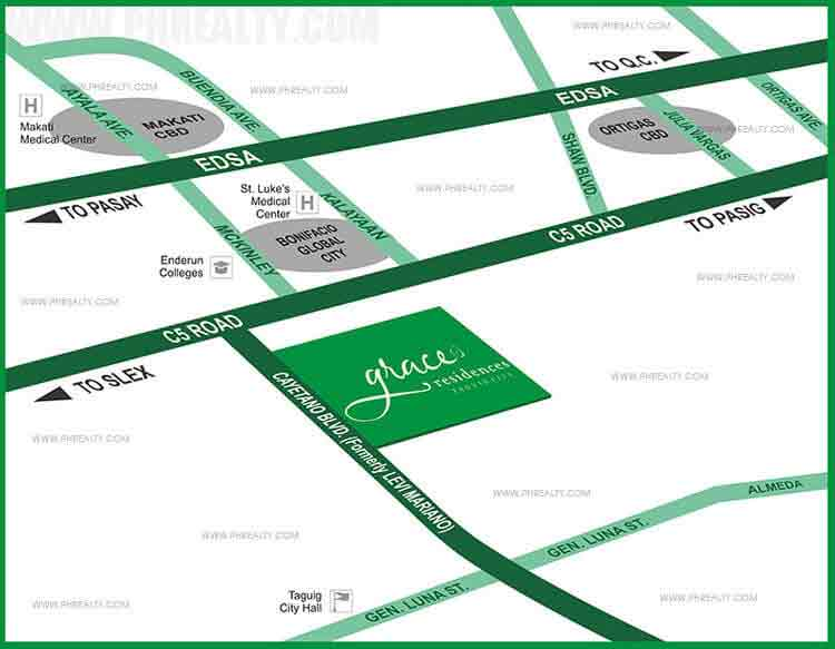 Grace Residences - Location & Vicinity