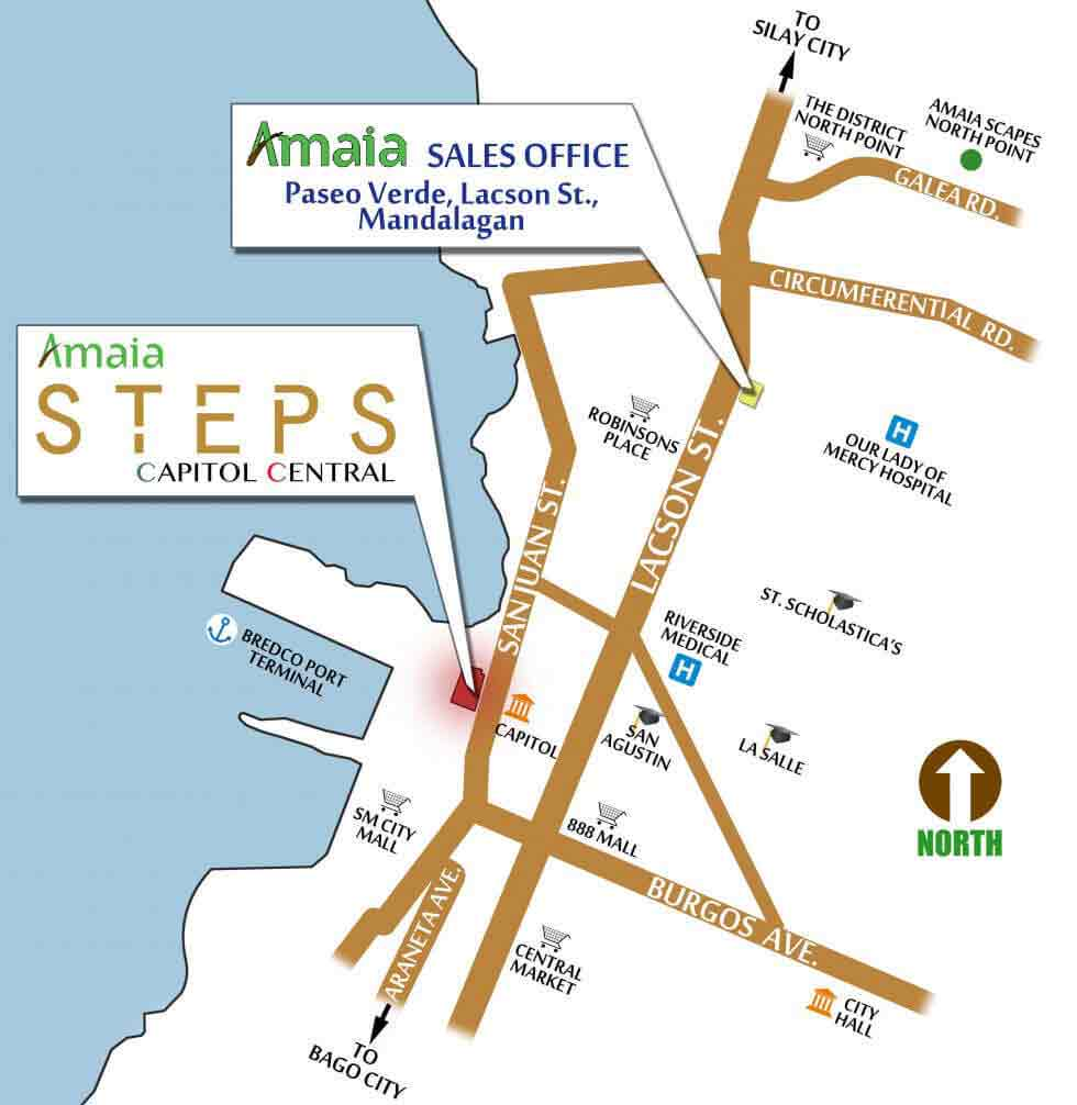 Amaia Steps Capitol Central - Location & Vicinity