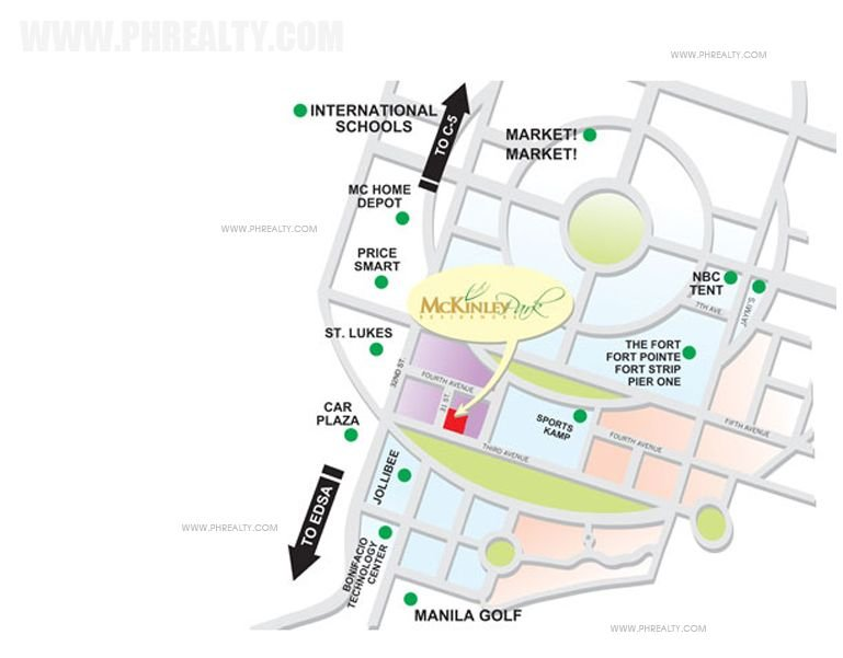 McKinley Park Residences - Location & Vicinity