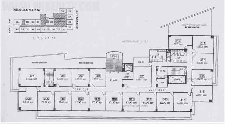 Civic Prime - Floor Plan 3rd Floor