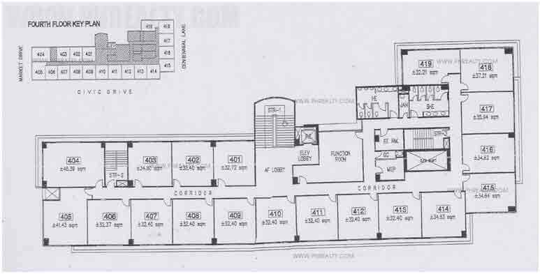 Civic Prime - Floor Plan 4th Floor