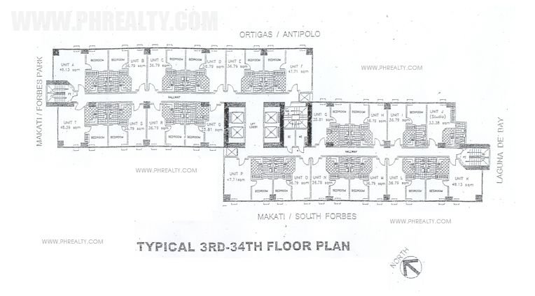 Fifth Avenue Place - 3rd to 34th Floor Plan