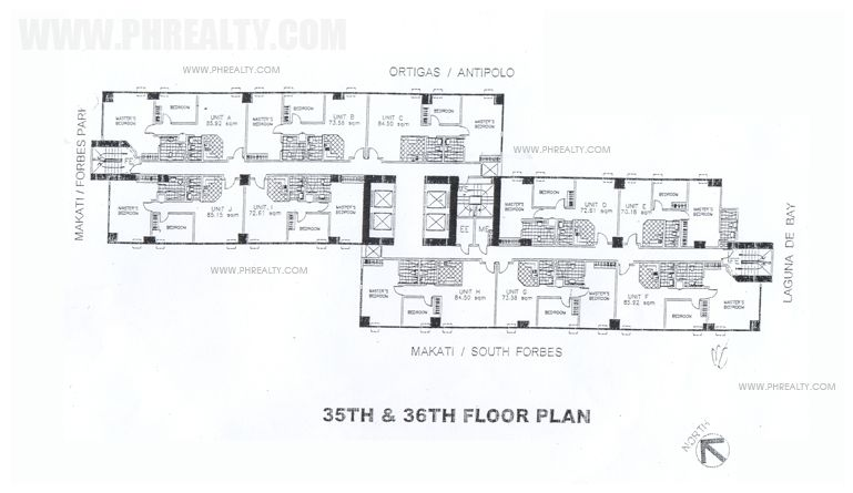 Fifth Avenue Place - 35th to 36th Floor Plan