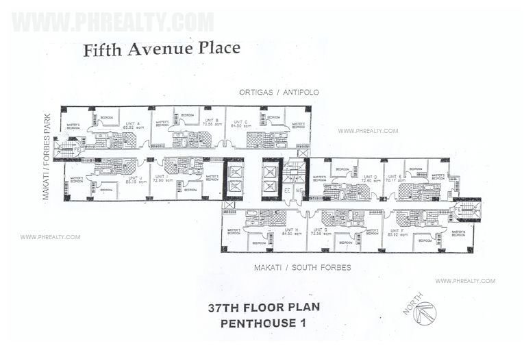 Fifth Avenue Place - 37th Floor Plan