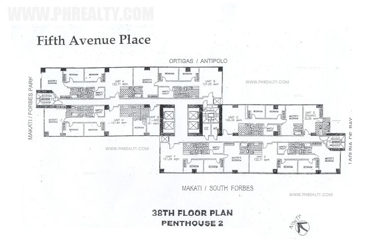 Fifth Avenue Place - 38th Floor Plan