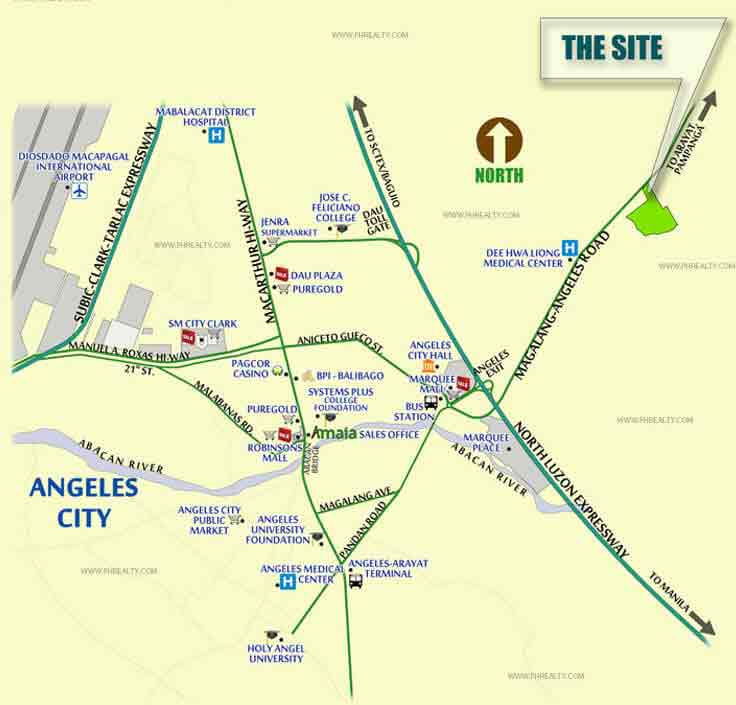 Amaia Scapes Pampanga - Location & Vicinity