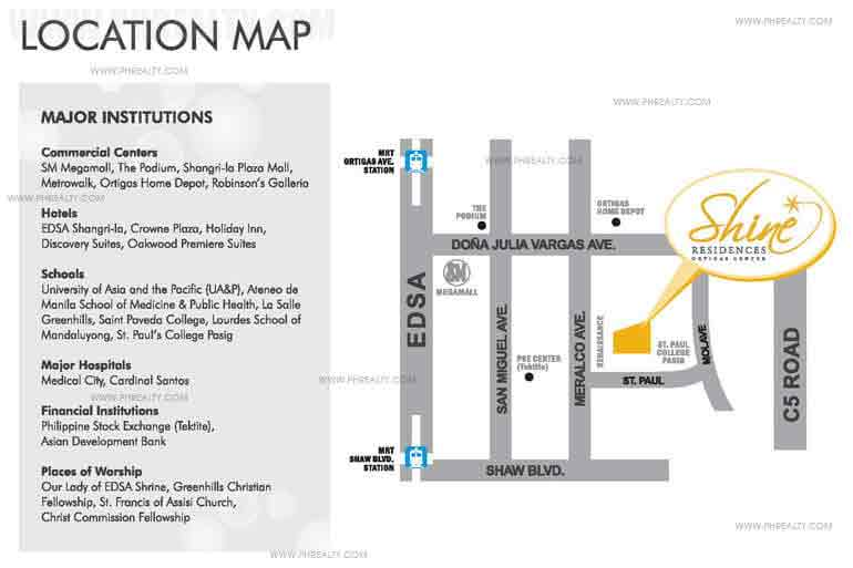Shine Residences  - Location & Vicinity