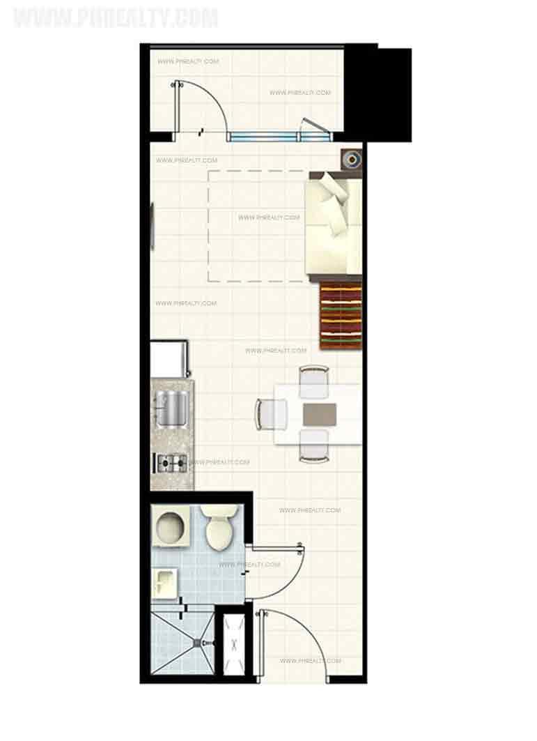 Breeze Residences - Studio Unit with Balcony