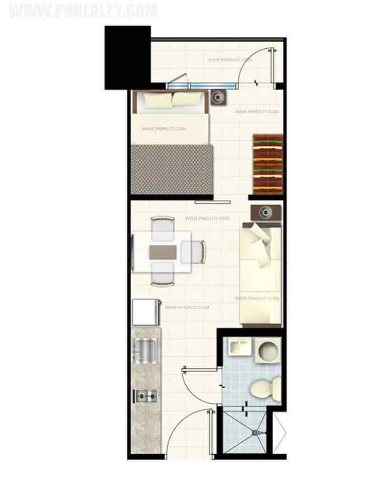 Breeze Residences - 1 Bedroom Unit with Balcony