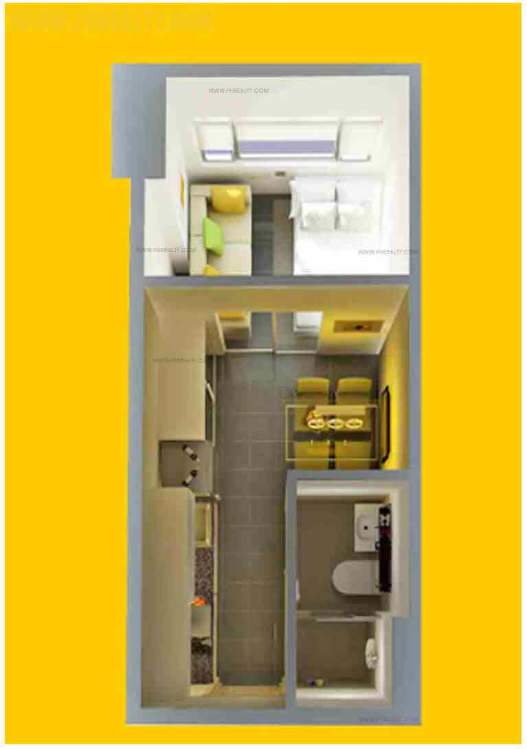 Berkeley Residences - 1 Br Unit Layout