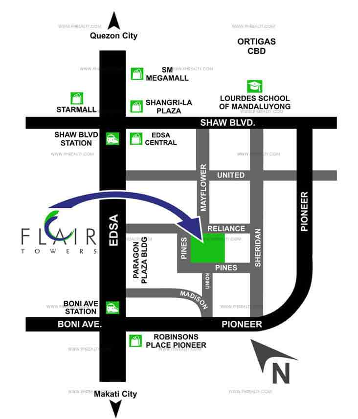 Flair Towers - Location & Vicinity