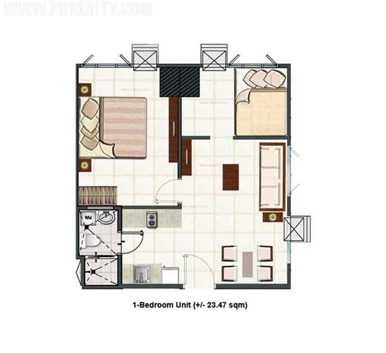 Blue Residences - 2 Bedroom Unit Layout