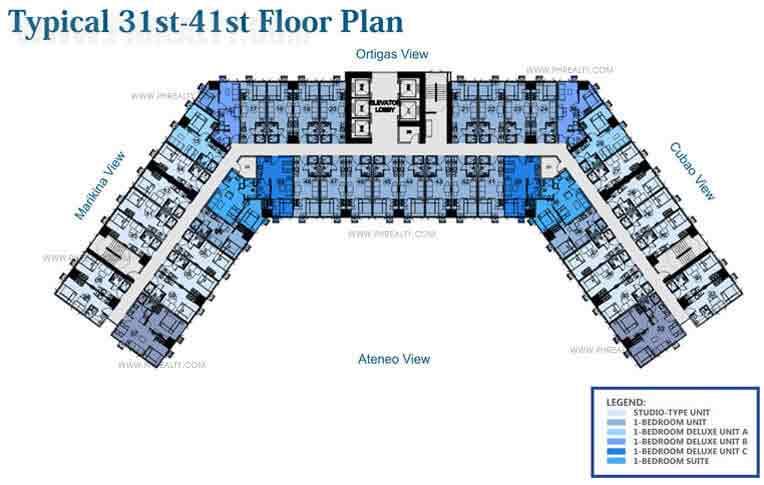 Blue Residences - 31st to 41st Floor