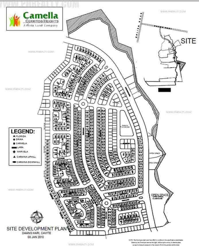 Camella Cerritos Heights - Site Development Plan