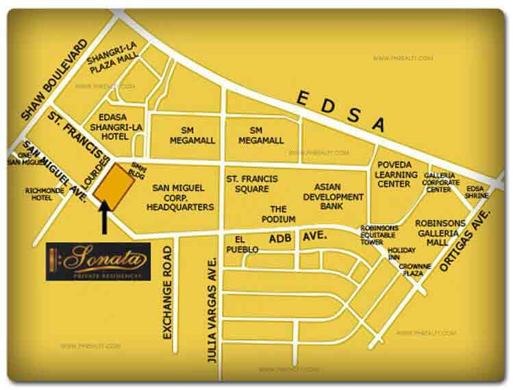 Sonata Private Residences - Location & Vicinity