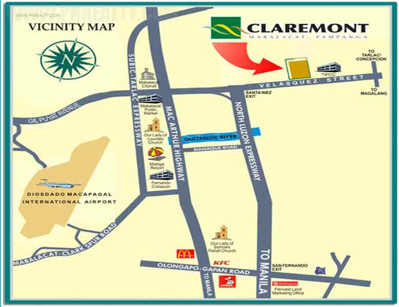 Claremont - Location & Vicinity